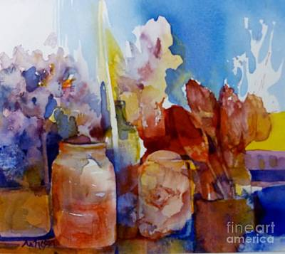 Painting - Flowers And Spoons by Donna Acheson-Juillet