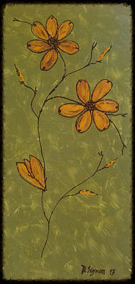 Flowers Painting - Flowers Art Decor by Donna Sigmon