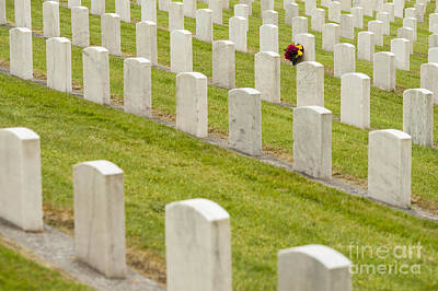 Photograph - Flowers At Gravesite by Jim Corwin