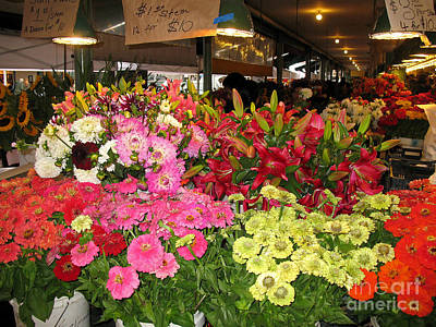 Photograph - Flowers At Pike Place Market by Connie Fox