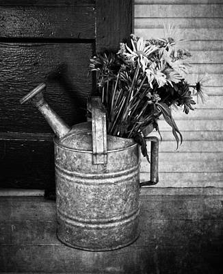 Water Jug Photograph - Flowers At The Door  by Jerry Cordeiro
