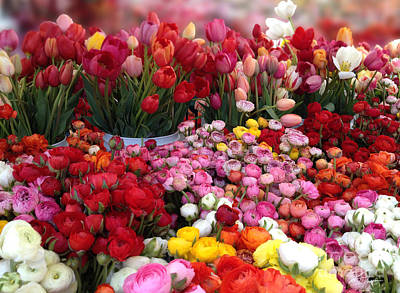 Photograph - Flowers At The Farmers Market  by Shari Warren