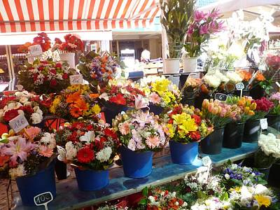 Cours Saleya Photograph - Flowers At The Market by Carolyn Jones