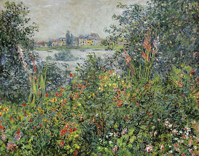 Vetheuil Painting - Flowers At Vetheuil by Claude Monet