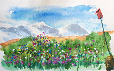 Painting - Flowers At Wolf Creek by Walt Brodis