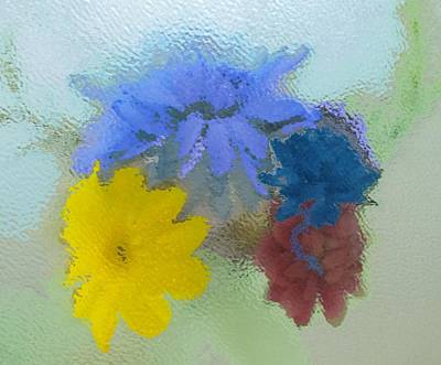 Painting - Flowers Behind Glass by Peni Baker