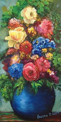 Painting - Flowers by Bozena Zajaczkowska