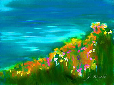 Flowers By Mayer Brook Art Print