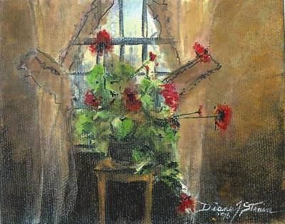 Flowers By The Window Art Print