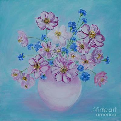 Painting - Flowers Card by Oksana Semenchenko