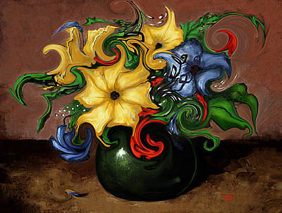 Painting - Flowers Dancing by Terry Webb Harshman
