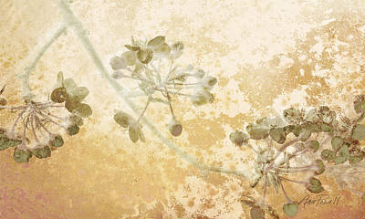 Horizontal Art Mixed Media - Flowers Delicate Buds  by Ann Powell