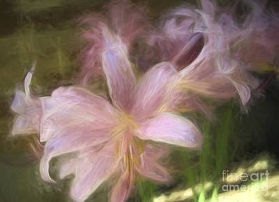 Photograph - Flowers - Dreamy Lilies - Luther Fine Art by Luther Fine Art