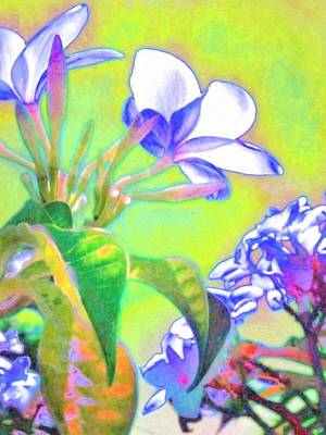 Painting - Flowers Edged In Periwinkle - Vertical  by Lyn Voytershark
