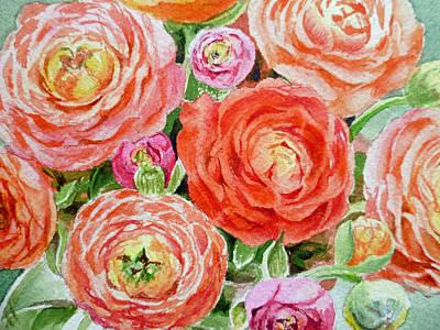 Ranunculus Painting - Flowers Flowers Flowers by Irina Sztukowski