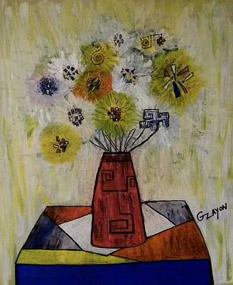 Abstract Painting - Flowers For Debby by Garry Zayon