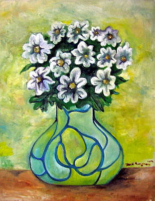 Wall Art - Painting - Flowers For Jenny by Martel Chapman