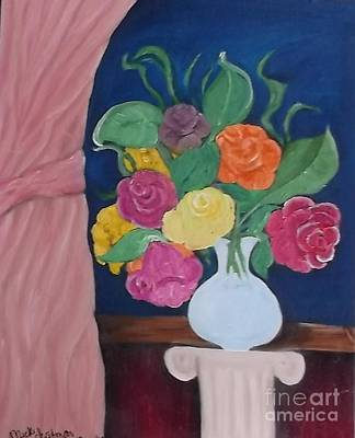 Flowers For Madear Art Print by Mildred Chatman