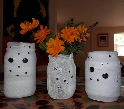 Halloween Flowers For Mummy Art Print by Belinda Lee