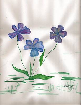 Greens Painting - Flowers For My Mom In Heaven by Myrtle Joy