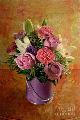 Flowers From A Friend Art Print by Lois Bryan