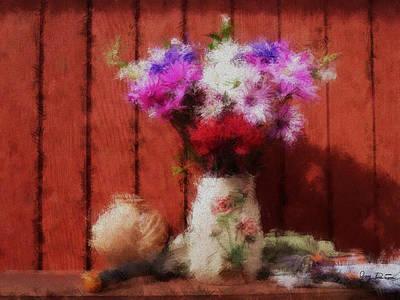Flowers From My Garden Art Print