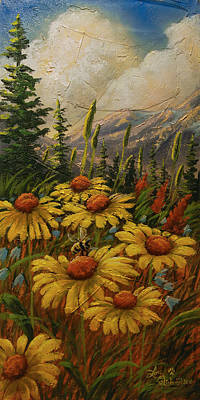 Cloud Painting - Flowers From The Forest by Lori Salisbury