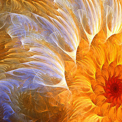 Sunflower Painting - Flower's Glow by Lourry Legarde