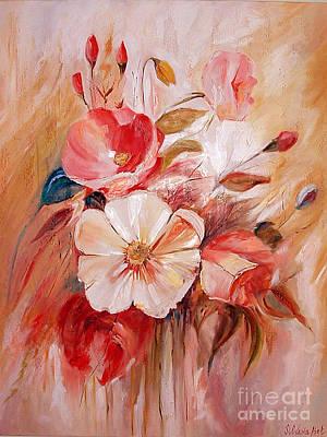 Flowers I Print by Silvana Abel