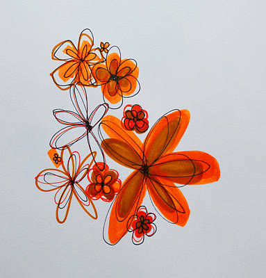 Drawing - Flowers IIII by Patricia Awapara