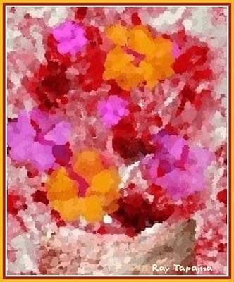 Digital Art - Flowers Impressions  by Ray Tapajna