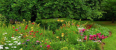 Quebec Photograph - Flowers In A Garden, Knowlton, Quebec by Panoramic Images