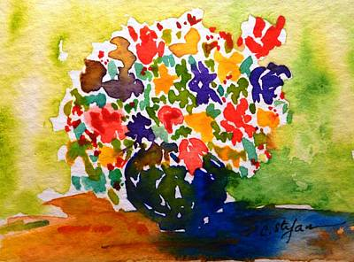 Flowers In A Vase Art Print