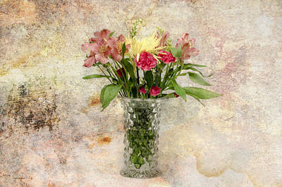 Photograph - Flowers In A Vase by Crystal Wightman