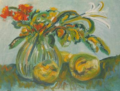 Painting - Flowers In A Vase by Esther Newman-Cohen