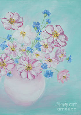 Flowers In A Vase. Inspirations Collection Art Print