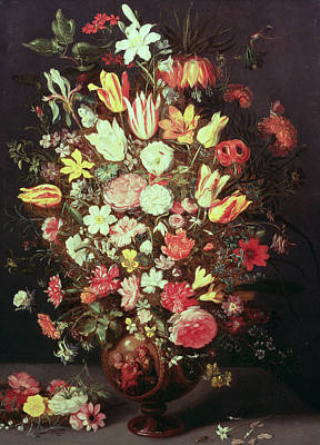 Crt Wall Art - Photograph - Flowers In A Vase by Phillipe de Marlier