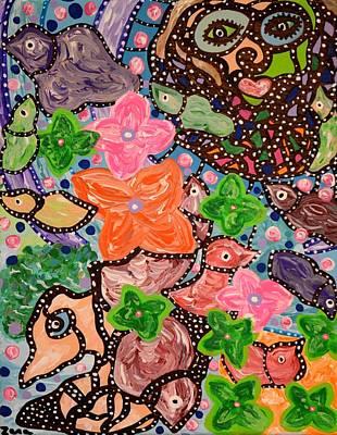 Painting - Flowers In Bloom by Sally Barnard