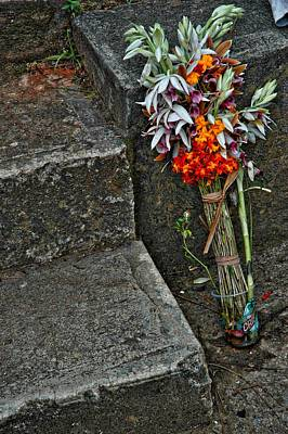 Chango Photograph - Flowers In Cuba by Larry Sides