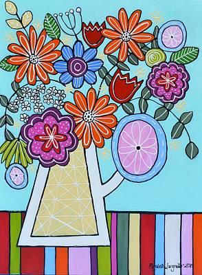 Painting - Flowers In Jug by Elizabeth Langreiter