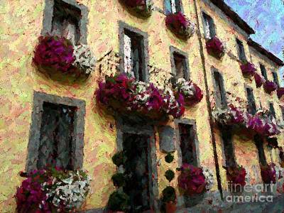 Photograph - Flowers In Lazio by Barbie Corbett-Newmin