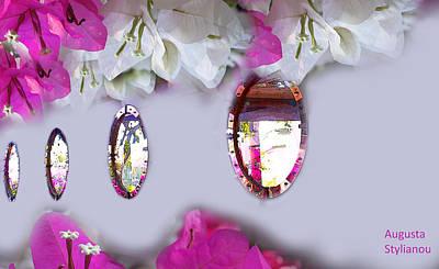 Digital Art - Flowers In Mirrors by Augusta Stylianou