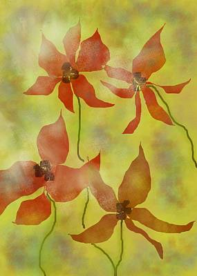 Painting - Flowers In Orange And Natural by Jessica Wright