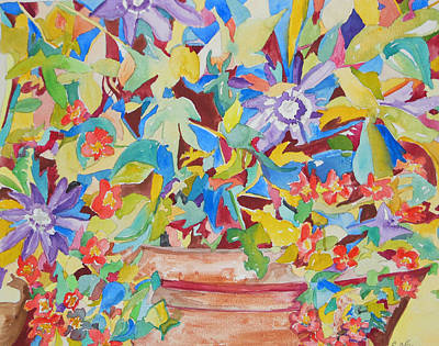 Painting - Flowers In Symphony by Esther Newman-Cohen