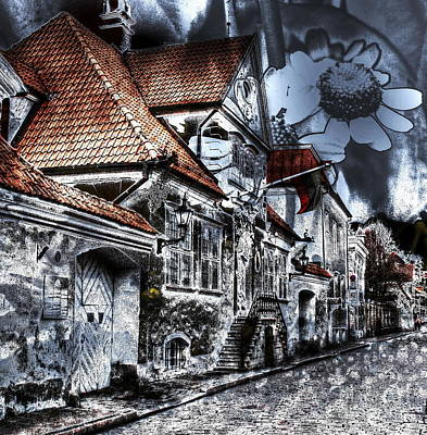 The Church Mixed Media - Flowers In The City by Yury Bashkin