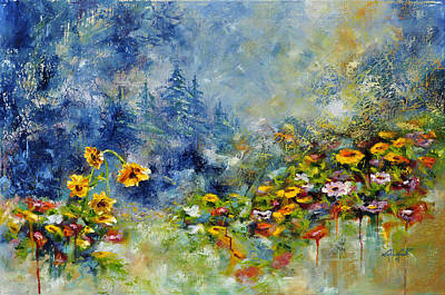 Painting - Flowers In The Fog by Craig T Burgwardt