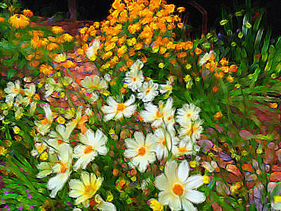 Photograph - Flowers In The Garden by Alan Lakin