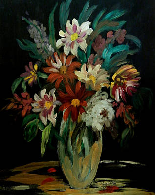James Earl Ray Painting - Flowers In The Night II by Anna Sandhu Ray