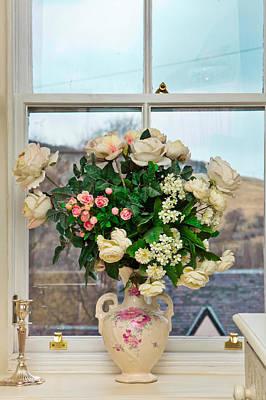 Flowers In The Window Art Print by Tom Gowanlock