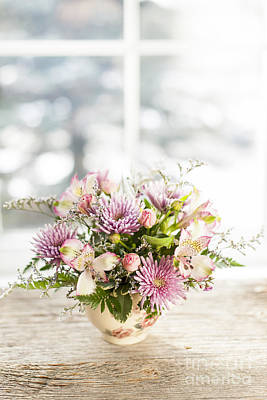 Chrysanthemum Photograph - Flowers In Vase by Elena Elisseeva
